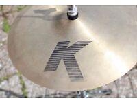 "Zildjian K 13"" hi hat traditional finish, very good condition, pair"