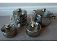 Prestige Professional Stainless Steel Cookware - 4 piece set