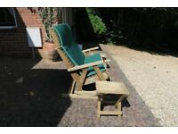 Pepe Garden Furniture double rocking chair with two side tables