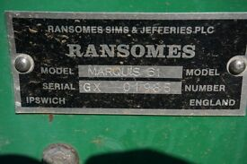 Ransoms 61 Marquis. (cylinder mower)