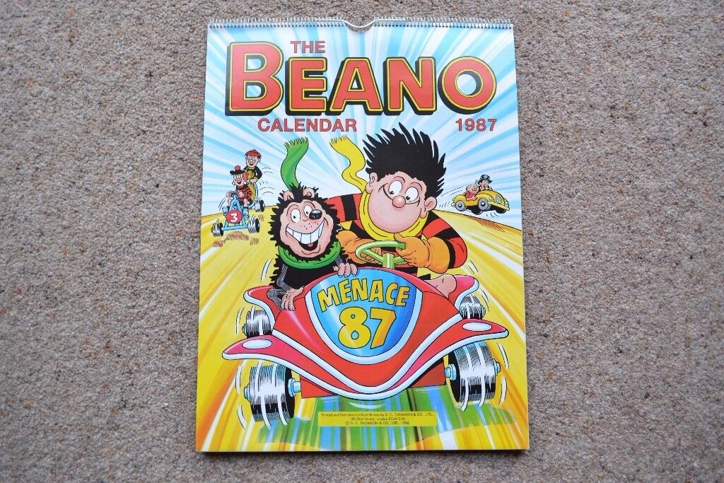 20 Beano Calendars 1987 2007 Most In Mint Condition Collectors