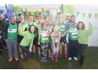 Volunteer on Children's Hospice South West's cheer point at the 2018 Bath Half Marathon