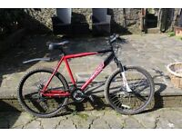 mens 21 speed, disk brakes mountain bike