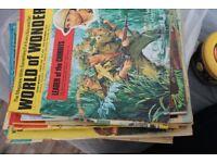 Bundles of vintage children's magazines: World of Wonder and other titles