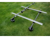 roof carrier inc 2 bike racks, fits VW Passat CC (will fit other cars).
