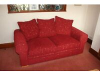 Sofa Bed, Burgundy, Excellent Condition