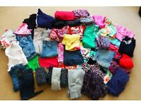 MASSIVE BUNDLE OF MIXED BRANDS GOOD COND GIRLS CLOTHES AGE 7-9