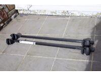 THULE RAPID SYSTEM - car roof rails rack van box with keys. adjustable length