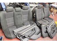BMW E39 black Sport Alcantara interior seats + 4 door cards + headrests