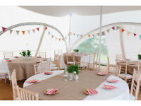 """Hessian Table Runners (x13 to fit 5""""6 tables)"""