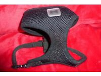 Pets At Home Size Small Black Comfort Mesh Dog Harness, Adjustable Strap, Good Condition, Histon