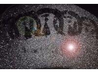 RARE Punk Jamie Reid Liberty Black on black diamond dust like Banksy but better!