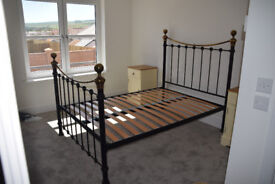 Reproduction double size brass bed frame