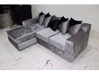 small corner crushed velvet sofa