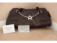 Dior brown leather bag