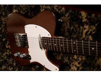 TELECASTER Electric Guitar walnut dark wood/ Rosewood neck tone monster