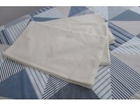 3 Dorma Flat Sheets, Double Bed Size in Cream