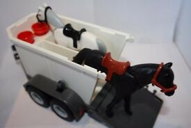 Playmobil Horse Trailer Set - Very Good Condition