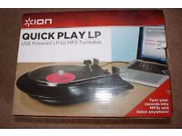 ION Quick Play LP - LP to MP3 Turntable