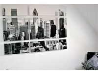 NEW YORK THEMED CHAIR, LARGE GRAPHICS, etc. ITEMS FOR STUDY/OFFICE