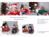 Xmas photoshoot for kids, Christmas photos