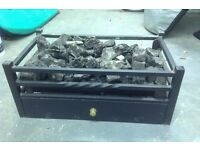 Coal effect gas fire basket