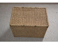 four wicker storage baskets x4 ideal for shoe or toy box