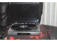 SONY LX-56 AUTOMATIC RECORD PLAYER CAN BE SEEN WORKING
