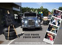 London Iconic Fairway Taxi Photo-booth Weddings and private or Corporate parties