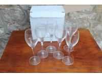 Boxed set of 6 Champagne Glasses / Flutes Laurent Perrier 15cl Verres Tester Glasses Glass