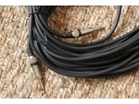2x pole speaker to jack cables