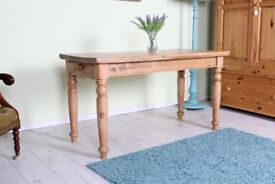 DELIVERY OPTIONS - LOVELY OLD RUSTIC FARMHOUSE PINE TABLE WAXED FINISH & DRAWER