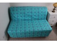 Ikea 2 seater sofa bed with cover