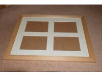 Light Wood Frame With Beige Mount to Hold 4 7 x 5 Pictures