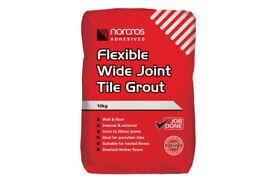 Norcros Flexible Floor & Wall Tile Grout - Golden Jasmine - 10kg - 13 bags at £13 each