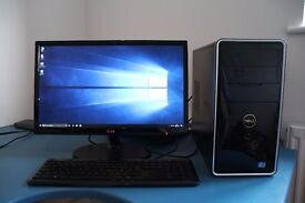 Dell Inspiron 660 core i5 desktop with 22 inch IPS monitor