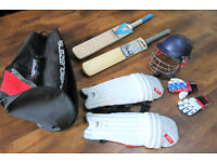 Junior 10-12 years Slazenger cricket bundle 2 bats/helmet/gloves/pads/bag £250