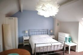 Large furnished, studio style double attic bedroom in Hillsborough