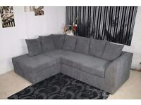 LIMITED OFFER !!BRAND NEW BYRON 3 AND 2 SEATER JUMBO CORD FABRIC SOFA SET