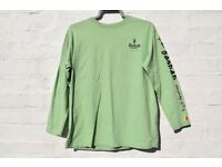 Baobab Company Rare Vintage 90's Fairtrade Green Long Sleeve Top C42""