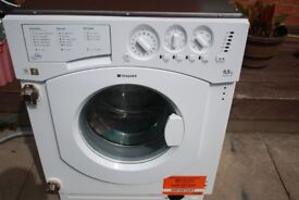 HOTPOINT 7KG INEGRATED WASHING MACHINE IN GOOD CLEAN WORKING ORDER 3 MONTH WARRANTY & PAT TESTED
