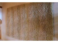 Gold, multi-textured wool rug 120x180cm