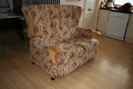 Two Seater Settee and matching High Back Chair. Ideal for compact lounge