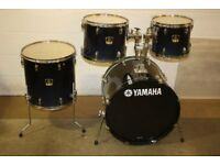 Yamaha Stage Custom Advantage Dark Blue Fade 4 Piece Drum kit 12 + 13 + 16 Toms + 22 Bass DRUMS ONLY