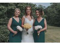 Pure Bridal - Hunter Green Bridesmaid dresses for sale