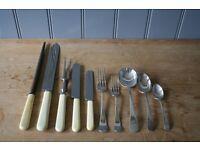 Bone handle cutlery with box