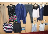 Bundle Joblot of Women's Ladies Clothes Size UK 16 and UK 18 River Island Next New Look Dorothy Perk