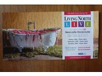 Free p&p for a Ticket to Living North Spring Fair at Newcastle Racecourse 28th to 30th April 2017