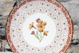 Antique Minton Handpainted Flower Plate 22cm Mintons 1884 Victorian Art