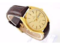 Omega Cal. 1345 Day Date Gold Plated Quartz Men's Watch